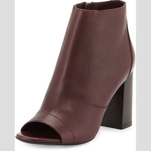 Vince Fionn Open-Toe Leather Bootie
